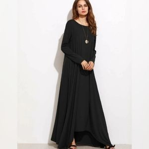 Shein Shift Full Length Dress Long Sleeve Maxi